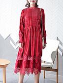 povoljno Ženske haljine-Žene Šifon Haljina Jednobojni Midi