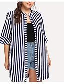 billige Skjorter til damer-Skjorte Dame - Stripet, Lapper Grunnleggende