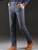 abordables Pantalones y Shorts de Hombre-Hombre Delgado Chinos Pantalones - Un Color Azul claro