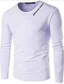 preiswerte Herren T-Shirts & Tank Tops-Herrn Buchstabe - Street Schick Übergrössen T-shirt, Rundhalsausschnitt Druck Schwarz XXXL / Langarm / Frühling / Herbst