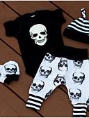 Χαμηλού Κόστους Βρεφικά Για Αγόρια σετ ρούχων-Μωρό Αγορίστικα Βασικό Καθημερινά Στάμπα Κοντομάνικο Κανονικό Βαμβάκι Σετ Ρούχων Μαύρο