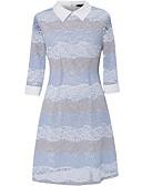 זול שמלות נשים-עד הברך שמלה ישרה כותנה בגדי ריקוד נשים