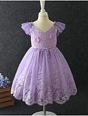 お買い得  女児 ドレス-幼児 女の子 甘い ソリッド ノースリーブ ドレス ピンク
