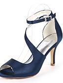 halpa Pusero-ador®-naisten pumput satiinijouset& kesällä minimalismin sandaalit stiletto kantapää avoin varvas solki tumma violetti / samppanja / norsunluu / häät / juhlat& ilta