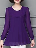 preiswerte Bluse-Damen Solide - Grundlegend Bluse