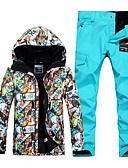 cheap Ice Skating Dresses , Pants & Jackets-GSOU SNOW Men's Ski Jacket with Pants Windproof, Waterproof, Warm Ski / Snowboard / Winter Sports POLY Clothing Suit Ski Wear