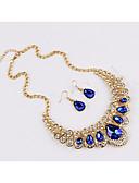 ieftine Tricou-Pentru femei Sapphire sintetic Clasic Set bijuterii - Picătură Modă Include Seturi de bijuterii de mireasă Curcubeu / Rosu / Albastru Pentru Petrecere Zilnic / Σκουλαρίκια