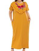 povoljno Majica s rukavima-Žene Osnovni Majica Haljina Cvjetni print Maxi