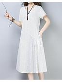 ieftine Pantaloni de Damă-Pentru femei Bumbac Shift Rochie Midi