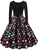 preiswerte Retro-Königin-Damen Retro A-Linie Kleid - mit Schnürung, Punkt Knielang