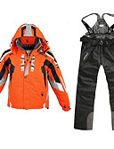 preiswerte Modische Uhren-Herrn Skijacken & Hosen Windundurchlässig, Wasserdicht, Regendicht Skifahren / Camping & Wandern / Snowboarding 100% Polyester Jacke / Schnee-Trägerhose Skikleidung / warm halten