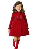 זול שמלות מקסי-ז'קט ומעיל שרוול ארוך אחיד בנות ילדים