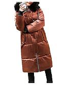 abordables Blazers y Chaquetas de Mujer-Mujer Casual Acolchado Un Color