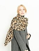 abordables Bufandas de Mujer-Mujer Borla Rectángulo - Básico Leopardo