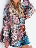 저렴한 블라우스-여성용 컬러 블럭 블라우스, 베이직 데이트 / 비치 퍼플 M