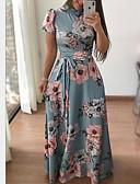 economico Camicie da donna-Per donna Pantaloni - Fantasia floreale Con stampe Nero / Maxi / Per eventi / Per uscire