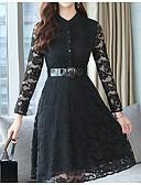 cheap Women's Dresses-Women's Daily A Line Dress V Neck Black L XL XXL