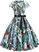 olcso Vintage királynő-Női Vintage / Elegáns Swing Ruha Virágos Térdig érő
