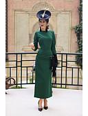 abordables Vestidos de Madrina-Mujer Chic de Calle Corte Bodycon Vestido - Espalda al Aire, Un Color Midi