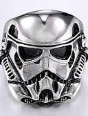 cheap Sport Watches-Men's Vintage Style Stylish Ring - Titanium Steel Mask Stylish, Vintage, Punk 10 / 11 / 12 Silver For Daily Street
