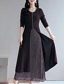 preiswerte Maxi-Kleider-Damen Street Schick / Elegant Hülle / Swing Kleid Einfarbig Maxi