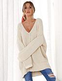 abordables Jerséis de Mujer-Mujer Activo / Básico Pullover - Un Color
