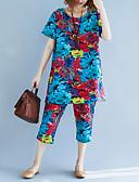 ieftine Costum Damă Două Bucăți-Pentru femei Set - Mată / Geometric, Pantaloni