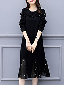 זול שמלות במידות גדולות-מידי שמלה שחורה וקטנה בסיסי בגדי ריקוד נשים