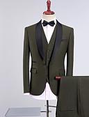 זול חליפות-טוקסידו גזרה רגילה צווארון צעיף (שאל) Single Breasted One-button פוליאסטר / תערובת כותנה אחיד