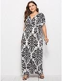 cheap Print Dresses-Women's Street chic Sheath Dress Print