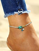 cheap Women's Blouses-Women's Ankle Bracelet Beads Romantic Imitation Pearl Anklet Jewelry Light Blue For Street Going out