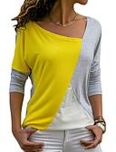 abordables Chemisiers Femme-Tee-shirt Femme, Bloc de Couleur Ample Bleu