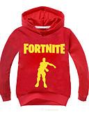 billige Hettegensere og gensere til gutter-Barn / Baby Gutt Grunnleggende Trykt mønster Langermet Bomull Hettegenser og sweatshirt Rosa
