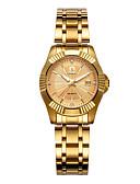 cheap Mechanical Watches-Women's Wrist Watch Quartz Gold 30 m Calendar / date / day Analog Ladies Casual Fashion - Black Silver Rose Gold