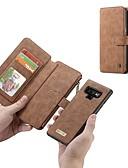 halpa Puhelimen kuoret-Etui Käyttötarkoitus Samsung Galaxy Note 9 / Note 8 Lomapkko / Korttikotelo / Iskunkestävä Suojakuori Yhtenäinen Kova aitoa nahkaa