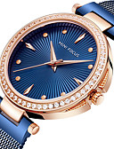 cheap Quartz Watches-MINI FOCUS Women's Luxury Watches Wrist Watch Gold Watch Quartz Stainless Steel Blue / Silver / Gold 30 m Casual Watch Cool Analog Ladies Elegant Minimalist - Silver Blue Rose Gold One Year Battery