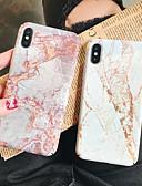 Недорогие Чехлы AirPods-Кейс для Назначение Apple iPhone XS / iPhone XR / iPhone XS Max С узором Кейс на заднюю панель Мрамор Твердый ПК