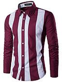 billige Herreblazere og dresser-Skjorte Herre - Ensfarget / Fargeblokk Aktiv / Grunnleggende