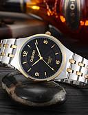 baratos Relógios Elegantes-Casal Relógio Elegante Japanês Quartzo 30 m Impermeável Relógio Casual Aço Inoxidável Banda Analógico Casual Fashion Prata - Branco Preto Dourado