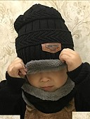 cheap Men's Jackets & Coats-Kids Unisex Active / Basic Daily / School Solid Colored Cotton / Acrylic Hats & Caps Black / Red / Gray One-Size