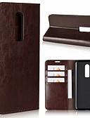 halpa Puhelimen kuoret-Etui Käyttötarkoitus OnePlus OnePlus 6 / One Plus 5 / OnePlus 5T Korttikotelo / Tuella Suojakuori Yhtenäinen Kova aitoa nahkaa