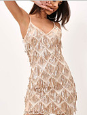 preiswerte Abendkleider-Eng anliegend Spaghetti-Träger Kurz / Mini Polyester / Baumwoll Mischung Kleid mit Muster / Druck durch LAN TING Express