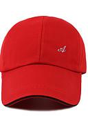 olcso Férfi kalapok, sapkák-Férfi Egyszínű Poliészter Baseball sapka Fehér Fekete Rubin