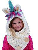 tanie Dziecięce Kapelusze i czapki-Brzdąc Dla dziewczynek Słodkie Tęczowy Bawełna Kapelusze i czapki Biały Jeden rozmiar