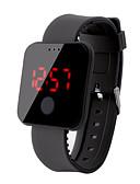 hesapli Saat Aksesuarları-Erkek Dijital saat Dijital Kauçuk Siyah / Beyaz / Mavi 30 m Su Resisdansı LCD Dijital Moda Renkli - Kırmzı Yeşil Mavi