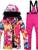 abordables Vestidos de cóctel-ARCTIC QUEEN Mujer Chaqueta y pantalones de Esquí Resistente al Viento, Templado, Gafas de Esquí Esquí / Snowboard / Deportes de Invierno POLY, Ecológico Poliéster Pantalones / Sobrepantalón