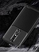 זול מגנים לטלפון-מגן עבור נוקיה Nokia 5.1 / Nokia 3.1 / Nokia 2.1 מובלט כיסוי אחורי אחיד רך TPU
