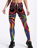 preiswerte Damen Leggings-Damen Grundlegend Legging - Geometrisch / Einfarbig Hohe Taillenlinie
