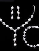 baratos Vestidos para Madrinhas-Mulheres Clássico Conjunto de jóias - Imitação de Pérola Doce, Elegante Incluir Sets nupcial Jóias Branco Para Casamento Festa