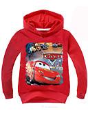 billige Hættetrøjer og sweatshirts til drenge-Børn Drenge Aktiv Geometrisk Langærmet Normal Polyester Hættetrøje og sweatshirt Rød
